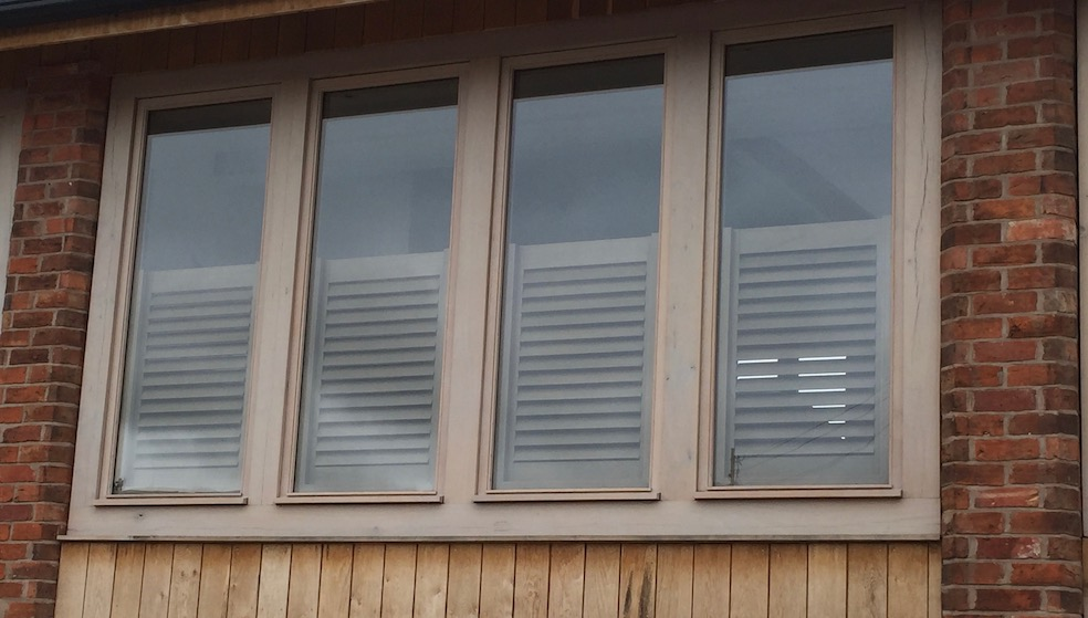 Café Shutters in a Barn Conversio Window