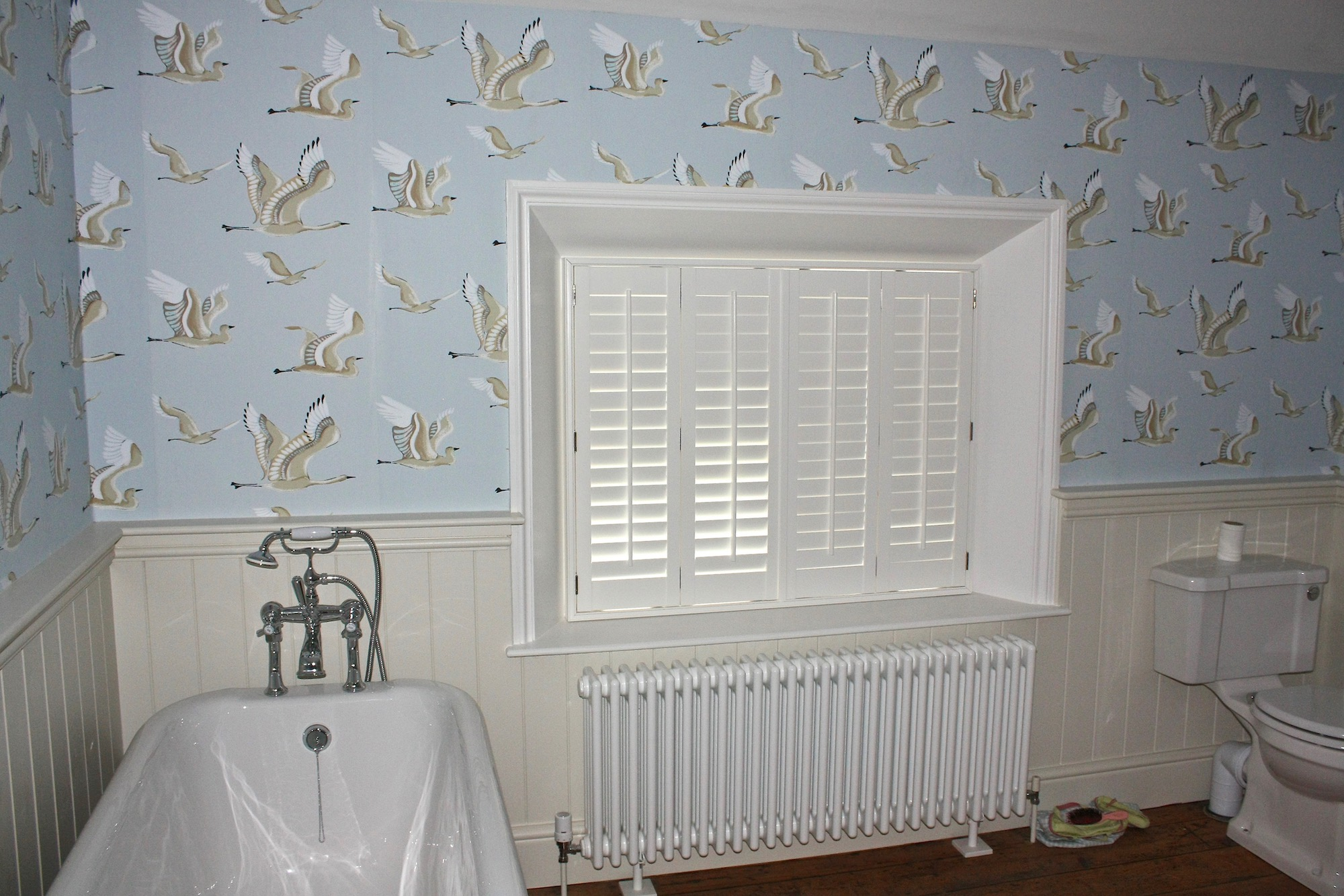 Deep Window Reveal Housing Bthroom Plantation Shutters