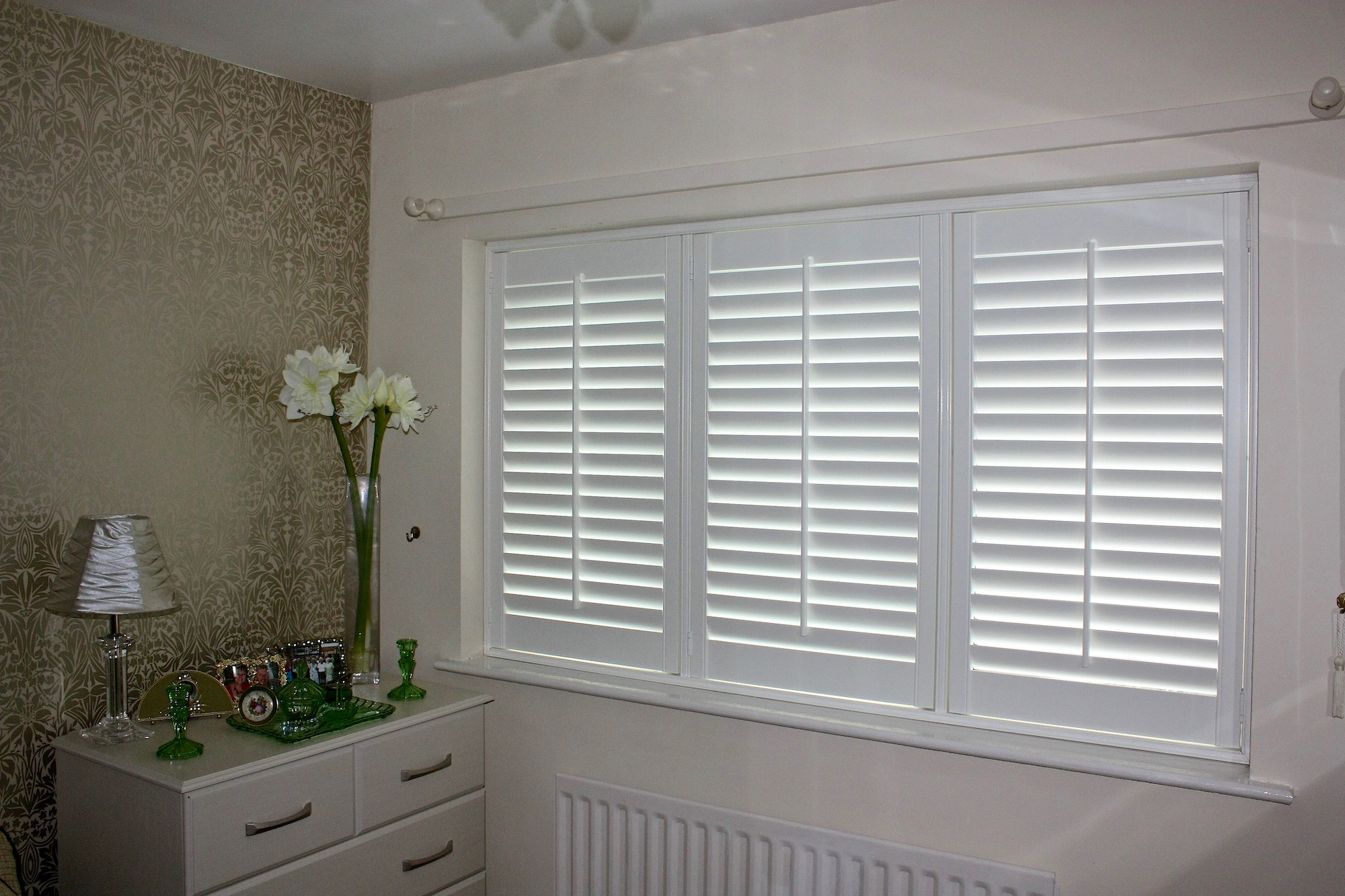 Bedroom setting for Shutters