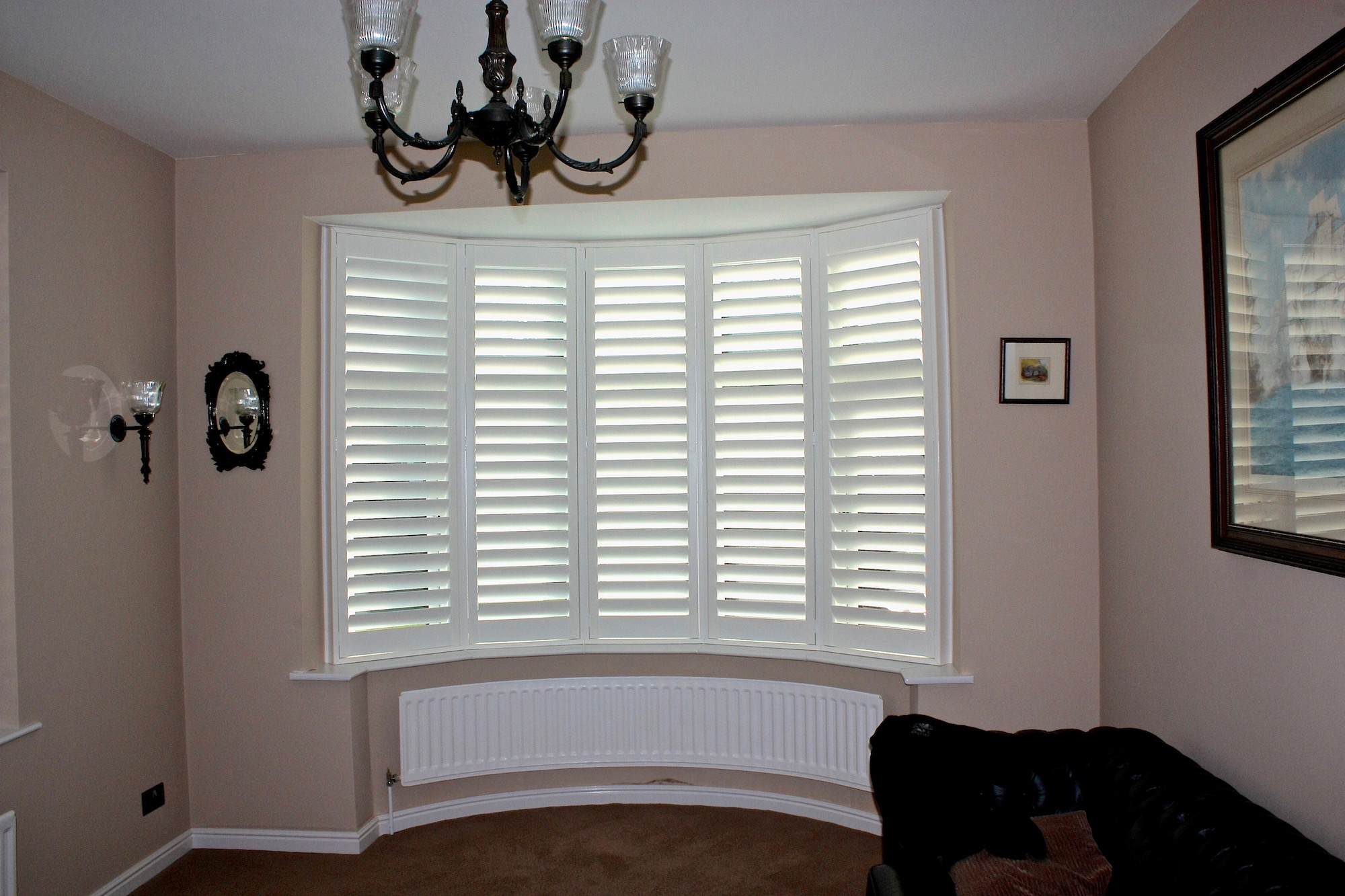 Tall Five Facet Bow Window Shutter