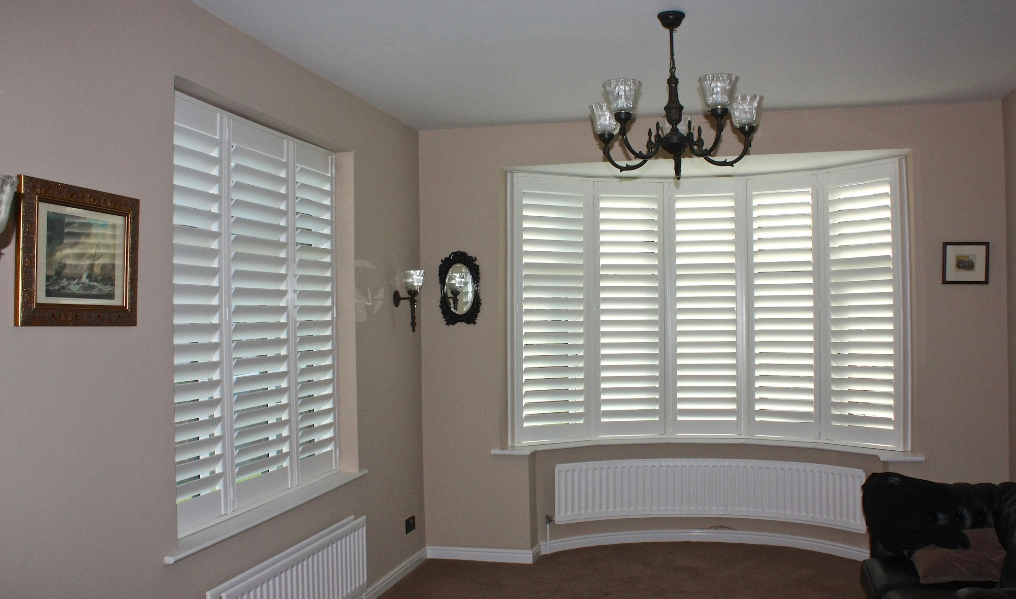 Bow Window with shutters and matching one to side