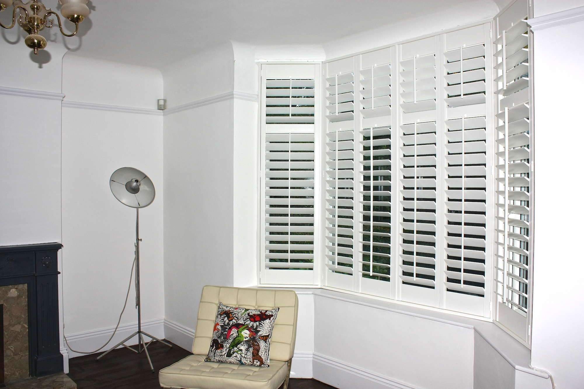 Large Bay In Minimal Room with  Plantation Shutters Fitted