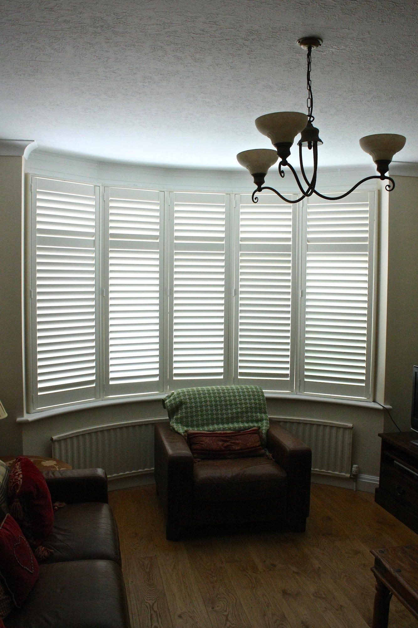 Bow Window With Plantation Shutters