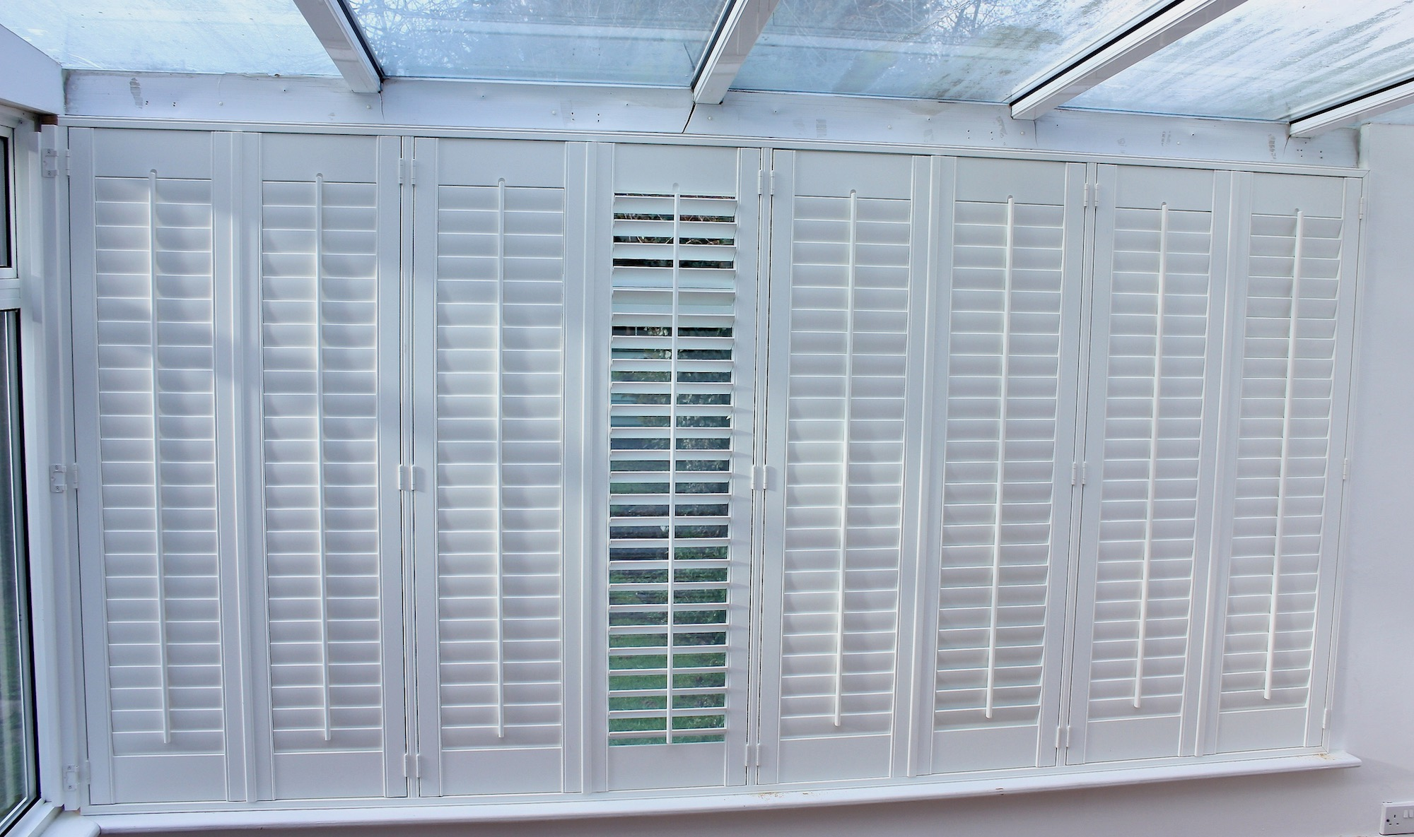 Shutters In A Conservatory