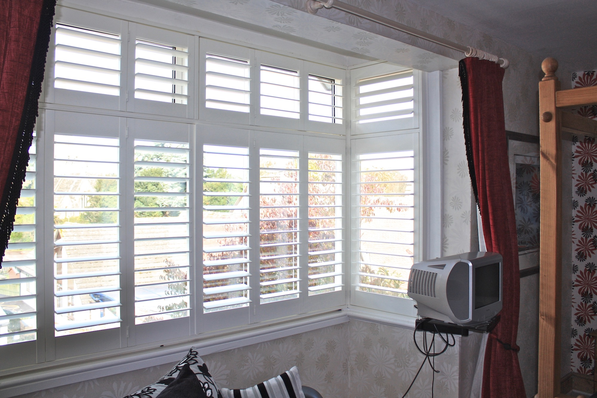 Square Bay with  Plantation Shutters